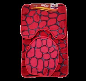 Tapetes p/ Banheiro Soft Estampado 3 Pcs. Premium 80X50/50X40/40X40 Cm Ref.: 624-12 Cx.30 Sub.12 Image