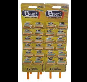 Barbeador c/fita Lubrificante Amarelo Ref.733-3A Cx.36 Cart. c/12 Conj. //432 Conj. p/caixa Image