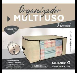 Organizador Multiuso Flexivel Tam. G 62x48x27 cm Cx.100 Sub.12 Image