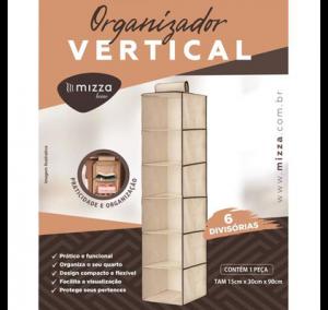 Organizador Vertical 6 Divisorias Tam. 15cm X 30cm X 90cm Cx.50 Sub.12 Image