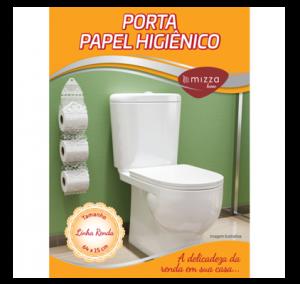 Porta Papel Higienico p/ 3 Rolos em Renda 64x15cm Cx.24 Image