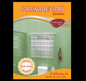 Cortina de Vitro em Renda p/ Banheiro Cx. 200 Sub.24 Image